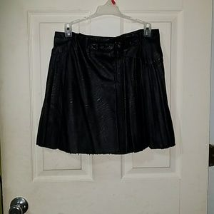 NWOT Faux Leather Skirt